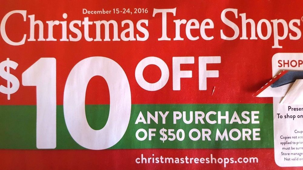 Christmas Tree Shops Coupon Last Minute Deals Save Savings Promo