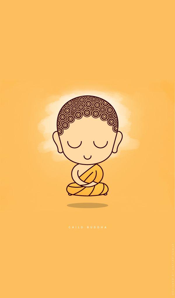 Cute Child Buddha In Levitation Meditation On Behance Buddha Art Buddhist Art Buddha Drawing