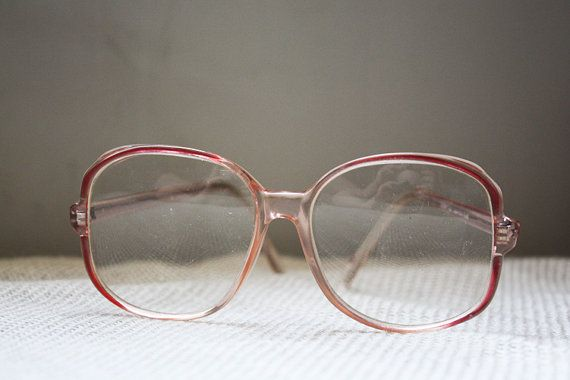 Vintage Peachy Keen Peach Glasses Large Frame 70s 80s Etsy Big Glasses Frames Cat Eye Glasses Frames 80s Glasses