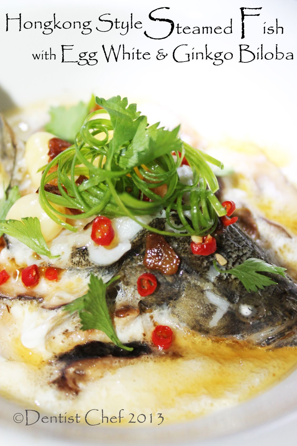 Steamed Fish With Egg White Ginkgo Biloba Nuts Rice Wine Hongkong Style Steam Fish Steamed Fish Recipes Steamed Fish Steam Recipes