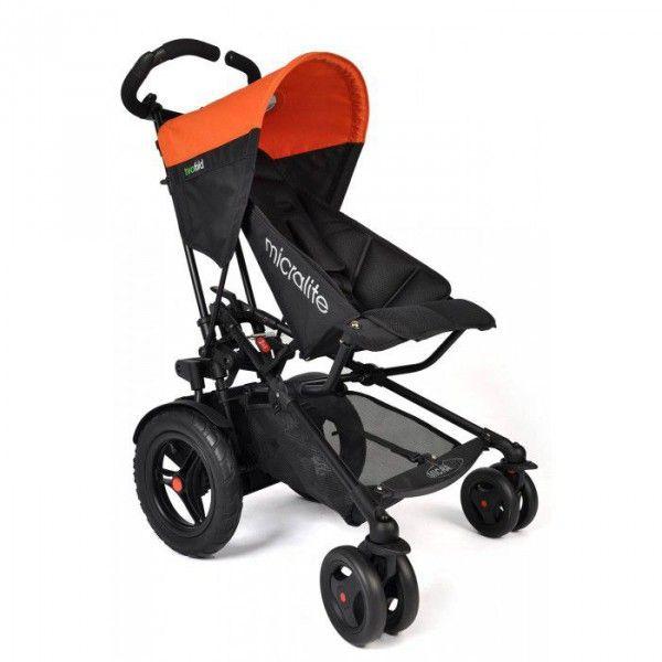 Silla para hermanos seguidos Micralite Two Fold naranja/negro [ML-TF-01-07] | 509,00€ : La tienda online para tu peke | tienda bebe pekebuba.com