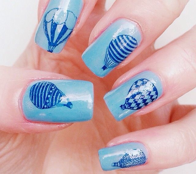 Hot air balloon nails nail design pinterest hot air balloon nails prinsesfo Choice Image
