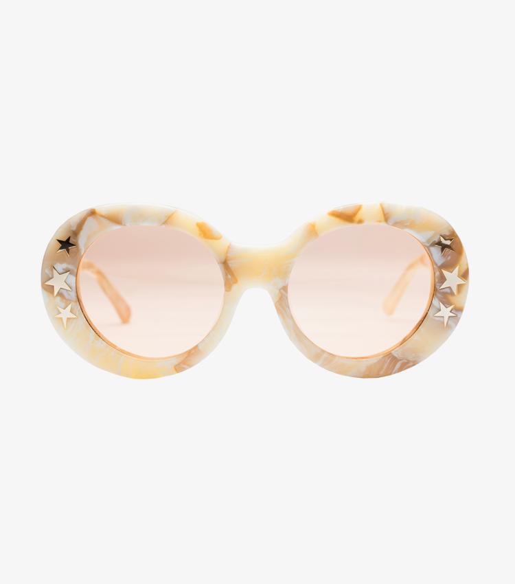 Dakota Cream Marble Oval Sunglass Australian Fashion Poppies