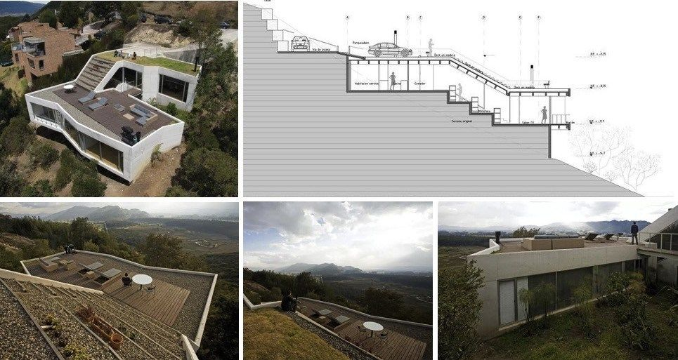 casas en terrenos inclinados proyecto pinterest