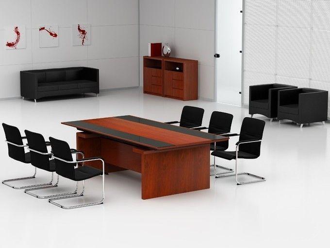 Konferenztisch Bergamo 2400 x 1200 mm + 6 x Konferenzstühle ...