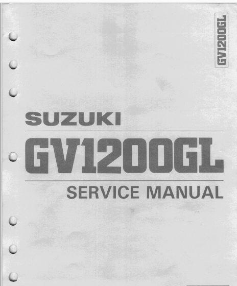 Suzuki Gv 1200 Gl Madura 85 A 86 Service Manual Manual Suzuki How To Remove