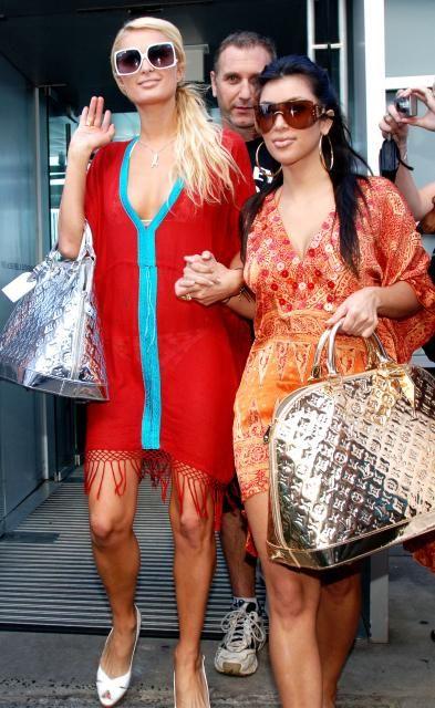 Kim Paris With Louis Vuitton Miroir Alma Bags Kim Kardashian
