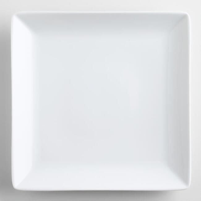 White Square coupe Dinner Plates set of 4 & White Square coupe Dinner Plates set of 4 | Housekeeping and Kitchens