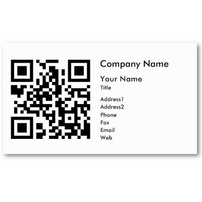 QR Code Business Card Template - Horizontal | Zazzle com