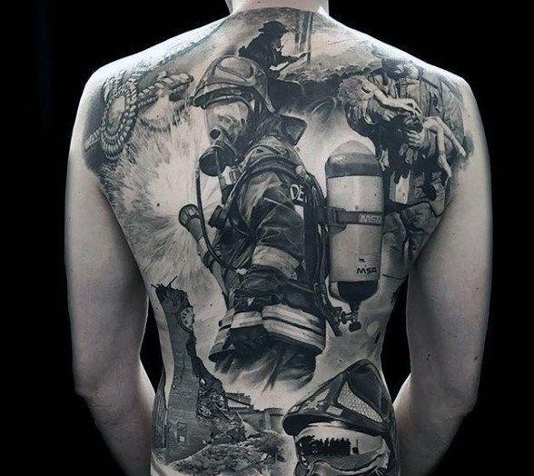 50 Firefighter Tattoos For Men Masculine Fireman Ideas Fire
