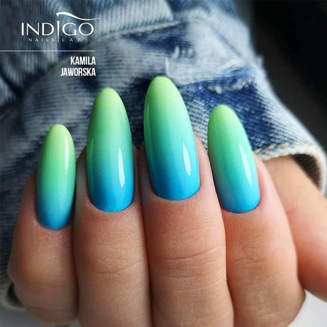 Fabulous Neon Colors Ombre Nails To Try | NailDesignsJournal.com