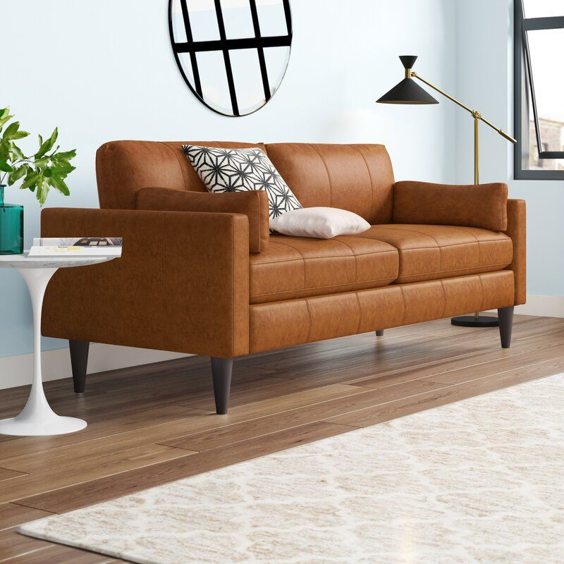 9 Affordable Leather Couches For 2020 With Free Shipping In 2020 Genuine Leather Couches High Ceiling Living Room Sofa