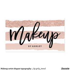 Makeup artist elegant typography rose gold stripes business card makeup artist elegant typography rose gold stripes business card reheart Image collections
