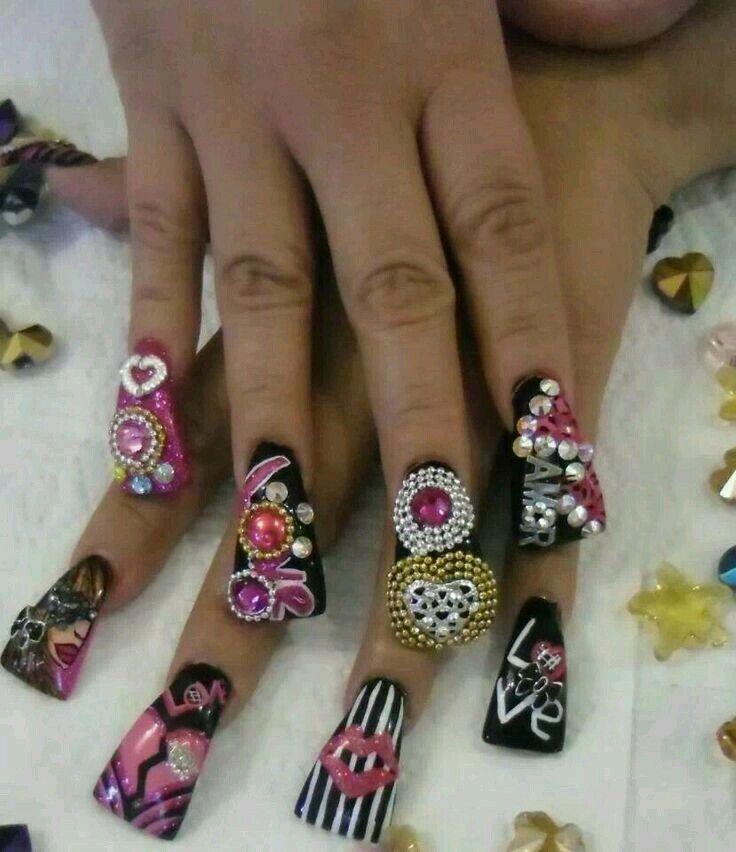 Nail art | Nails Estilo Sinaloa | Pinterest | Uñas estilo sinaloa ...