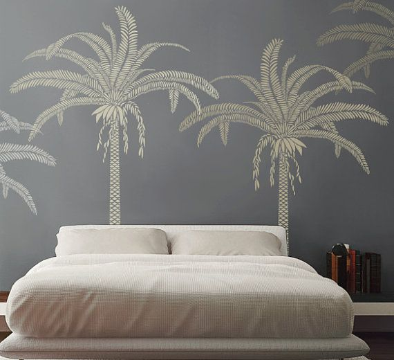 Palm Tree Stencil For Walls Large 7 5 Feet Tall Reusable And Reversible Diy Home Decor Wall Art