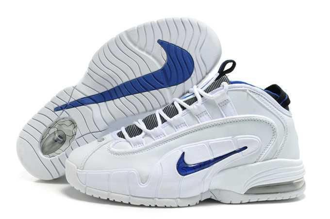 us nike air penny hardaway i men basketball shoes white blue for sale
