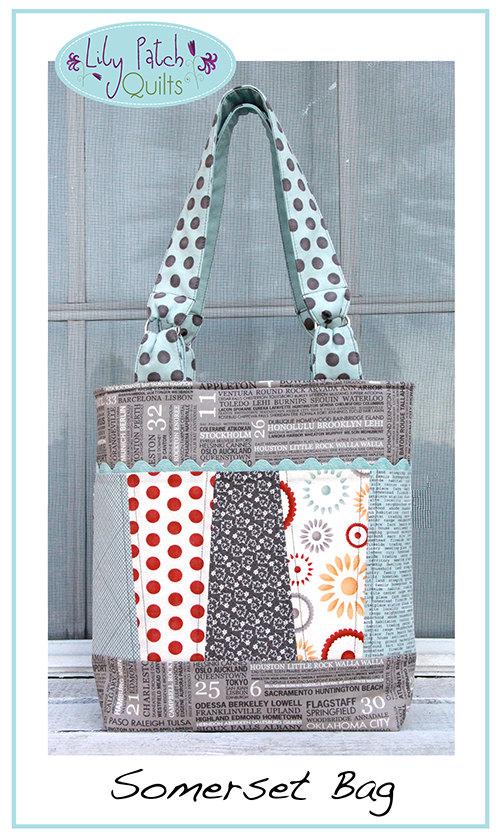 The Somerset Tote Bag Pdf Pattern Bagmaking Sewing Pattern Bag