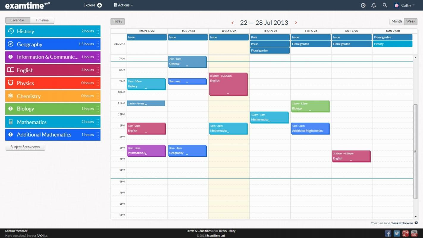 study schedule maker template pinterest revision timetable