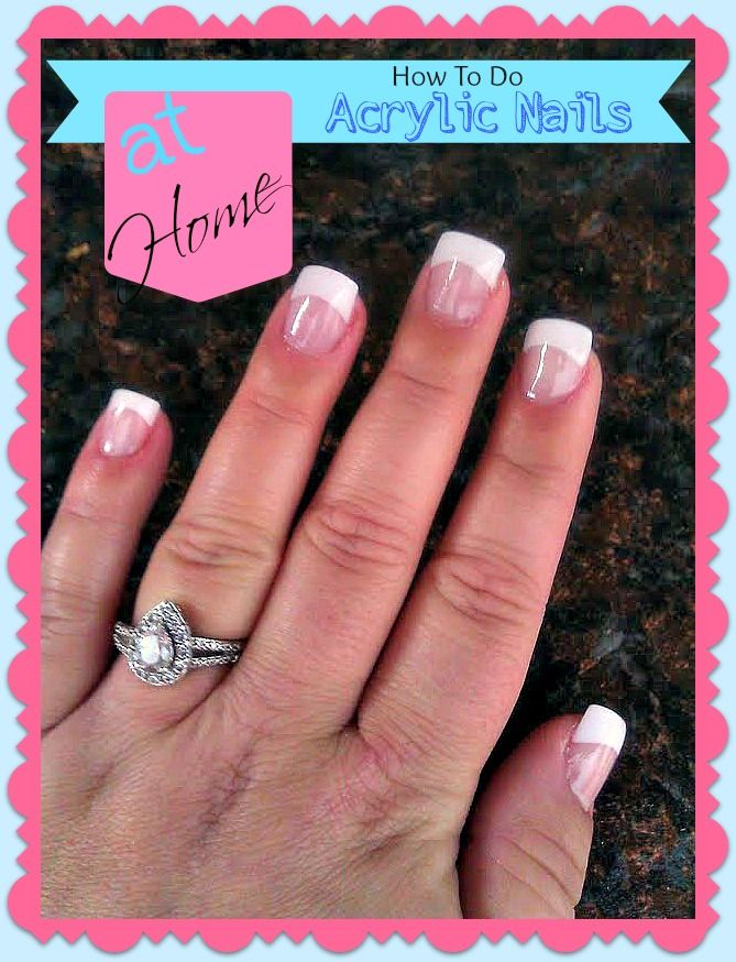 How To Do Your Own Acrylic Nails At Home | Frugal and Money Saving ...