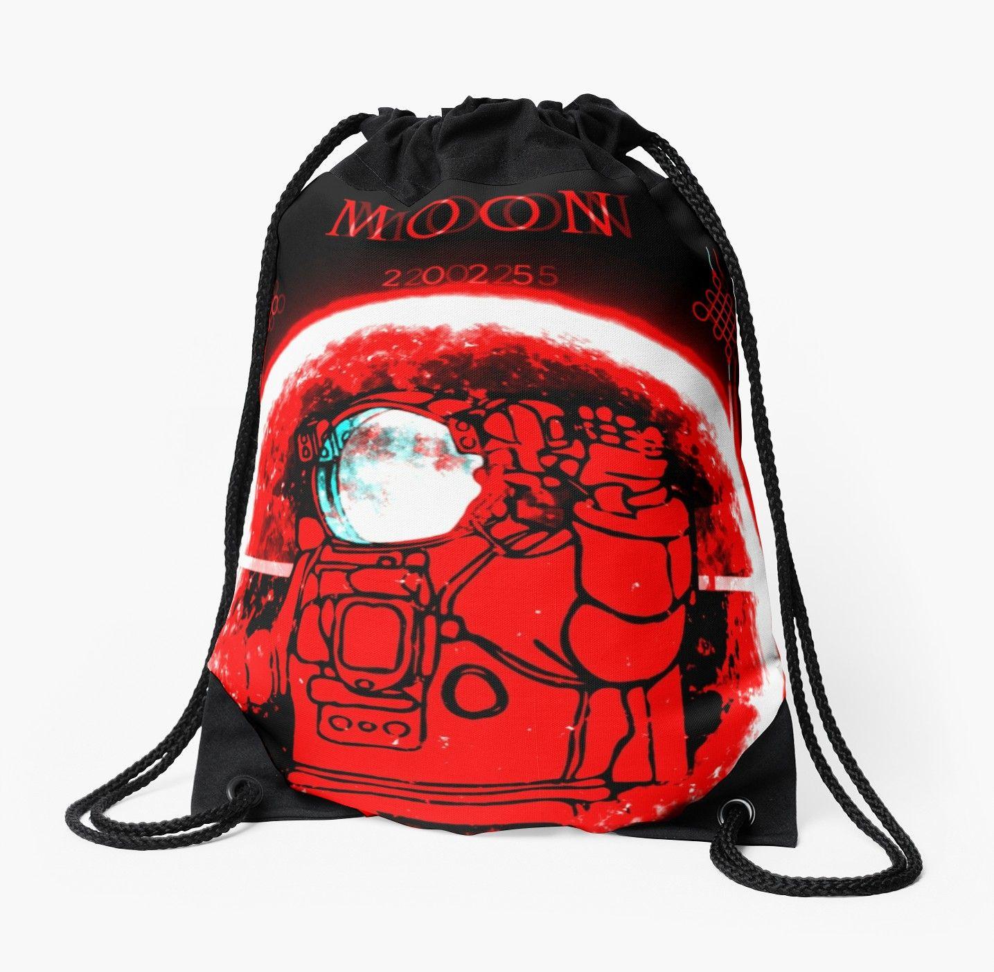 Drawstring Backpack Astronaut Space Rucksack