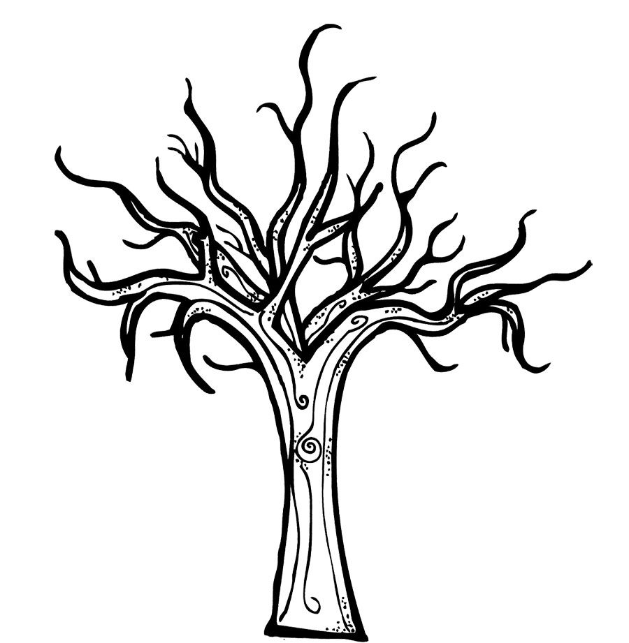 printable bare tree template kids coloring pages printable kids - Bare Tree Coloring Pages Printable