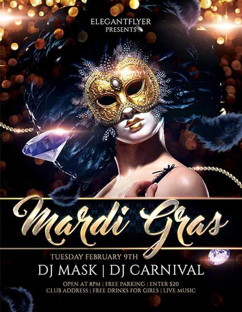 Download Mardi Gras Carnival Free Psd Flyer Template Free Flyer
