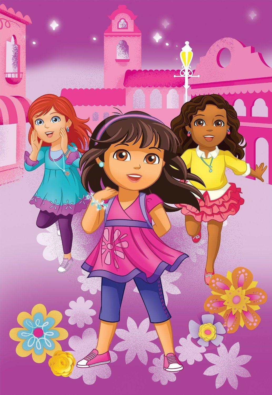 Amazoncom Nick Jr Dora and Friends City Girls Micro Raschel