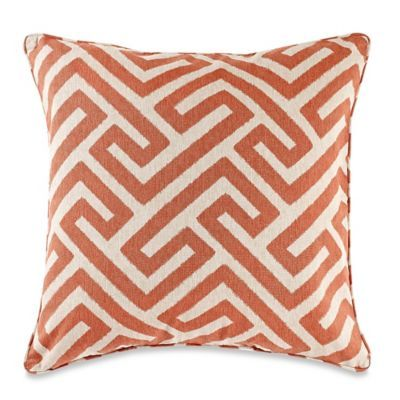 MakeYourOwnPillow Keyes Square Throw Pillow Cover In Spice Products Awesome Make Your Own Pillow Covers