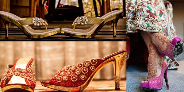 b842485cb84db9 Wedding Footwear for Indian  brides indian bridal shoes wedding bride  dulhan desi groom www.amouraffairs.in