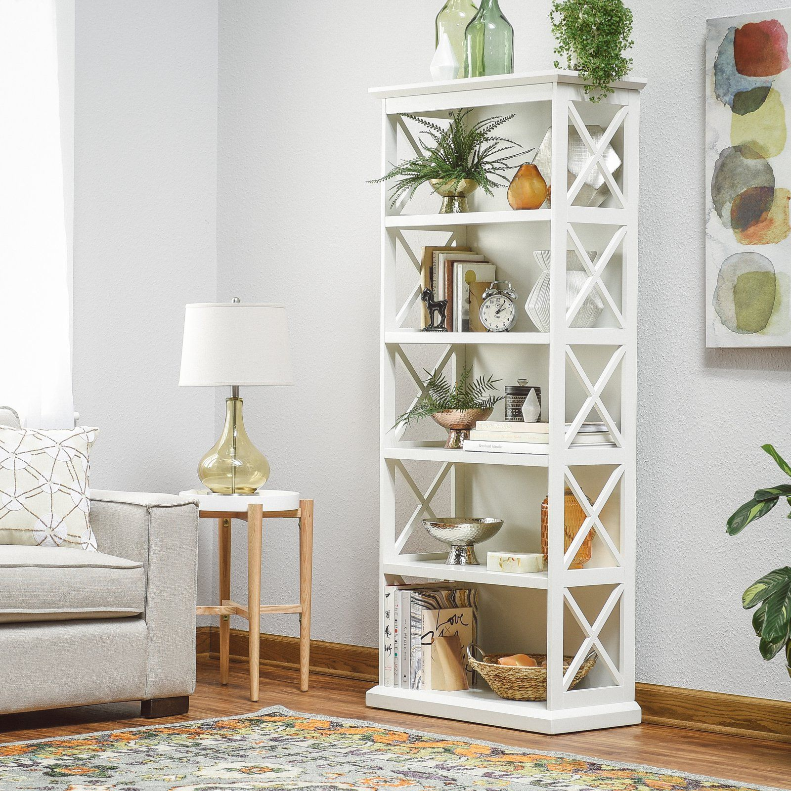 huge selection of 12b17 79371 Belham Living Hampton 5-Tier Bookcase - White | Products in ...