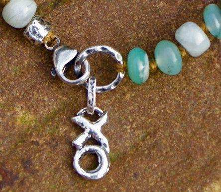 African Opal boho bracelet  knotted semi by Mollymoojewels on Etsy