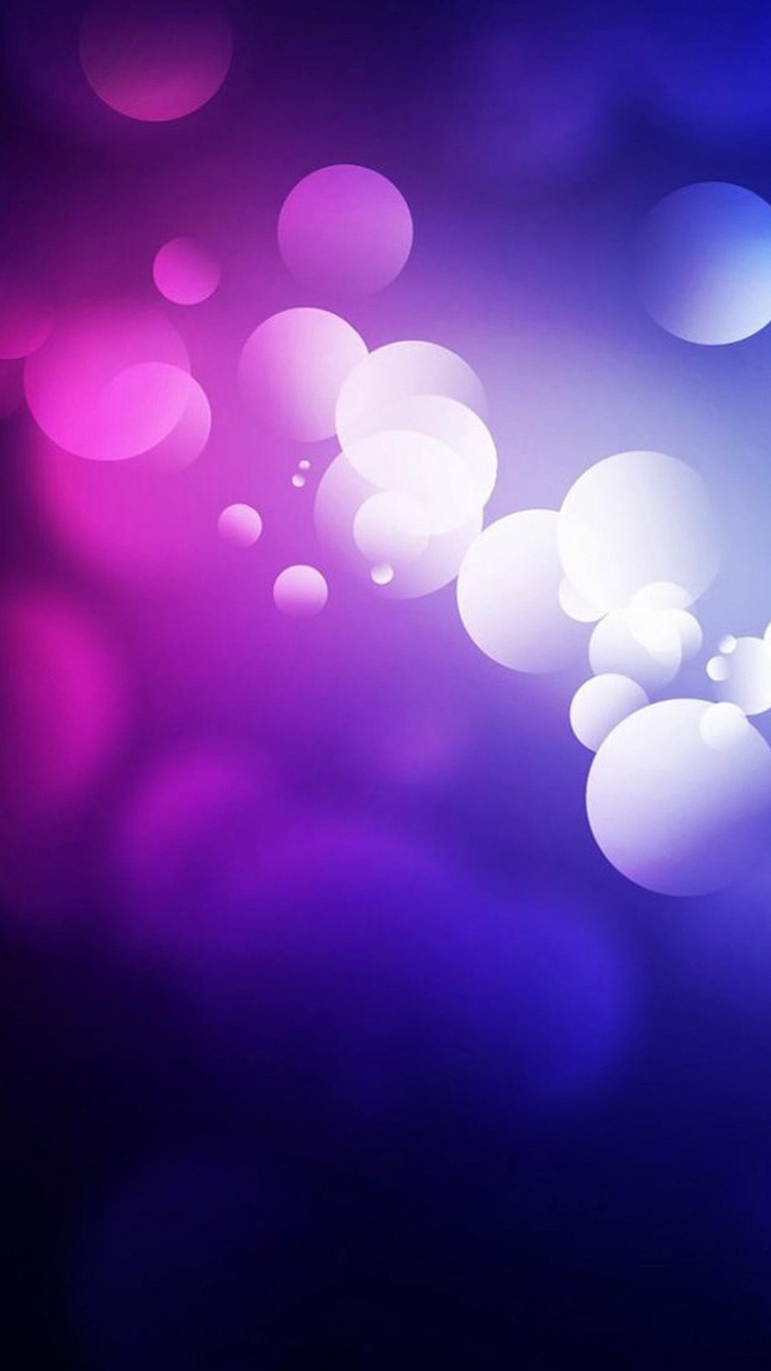 Round galaxy iphone 6 6 plus and iphone 5 4 wallpapers - Purple Abstract Bubbles Iphone 6 Plus Wallpaper