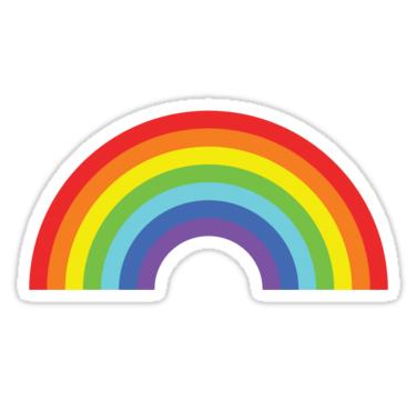 Rainbow sticker by icaretees