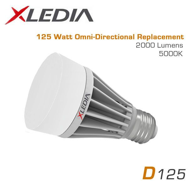 Xledia D125n Omni Directional A19 17 5 Watt 2080 Lumens Cool White 5000k 125 Watt Equal Suitable For Fully Enclosed Fixtures 100 277vac Led Diodes Watt Led