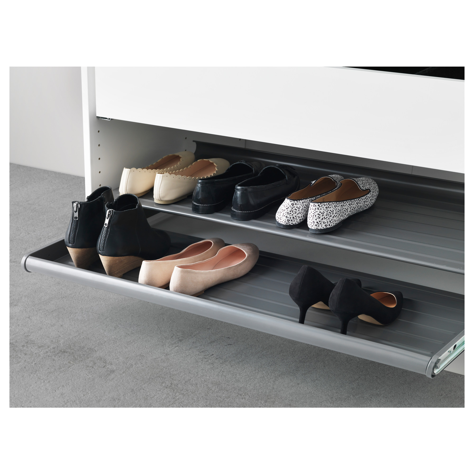 IKEA KOMPLEMENT pull out shoe shelf Solid bottom