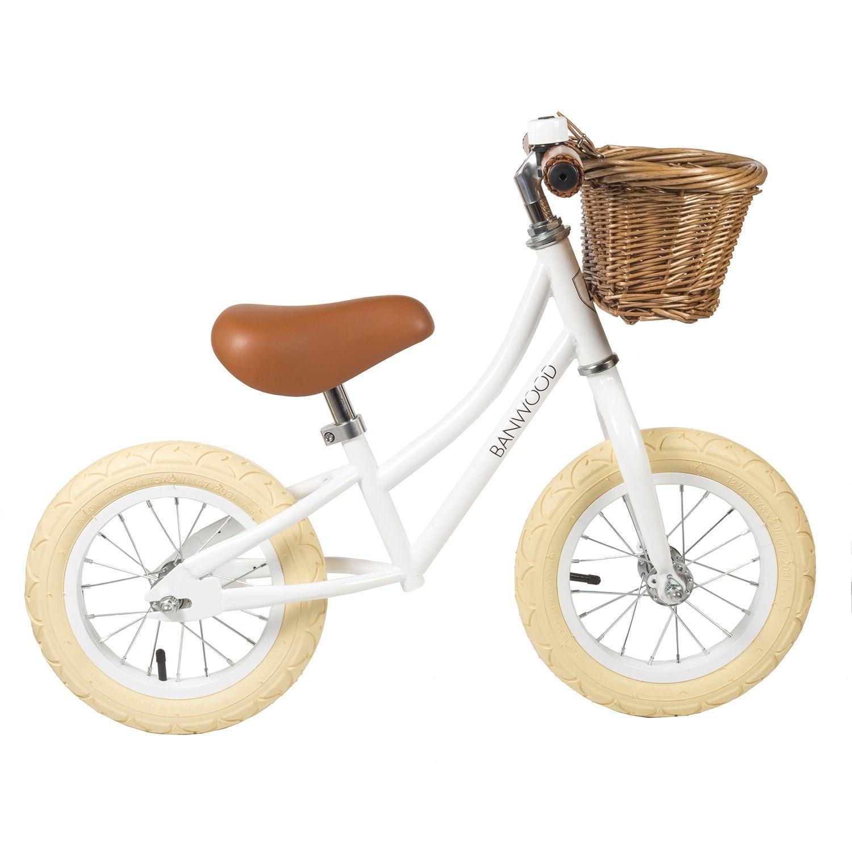 Banwood Laufrad First Go Girl White Laufrad Laufrad Kinder