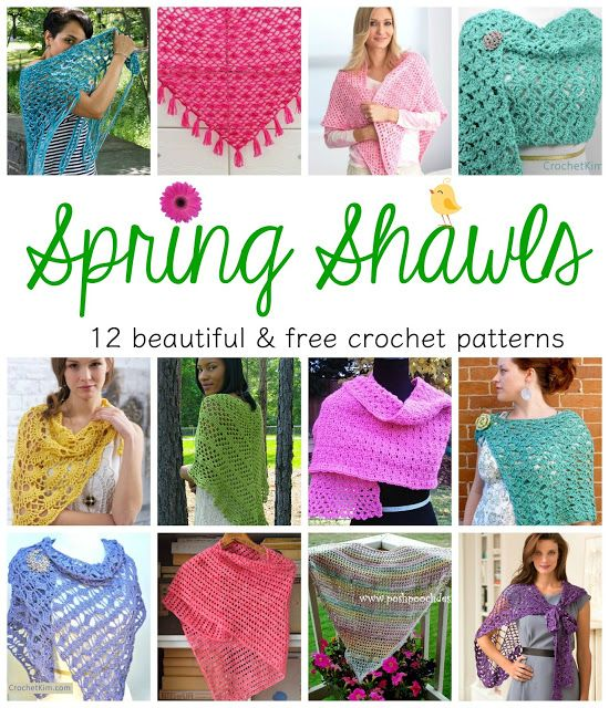 Spring Shawls! 12 Beautiful & Free Crochet Patterns ...
