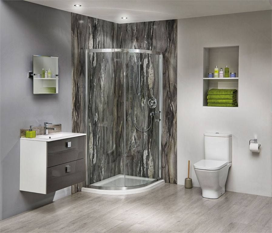 Our Bushboard Shower Panelling Display Stand Is Now Up In The Showroom Beautiful Product Bathroom Wall Coverings Restroom Design Waterproof Bathroom Panels