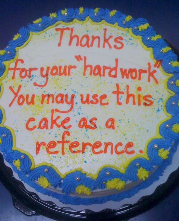 15 Hilarious Farewell Cakes That Employees Got On Their Last Day
