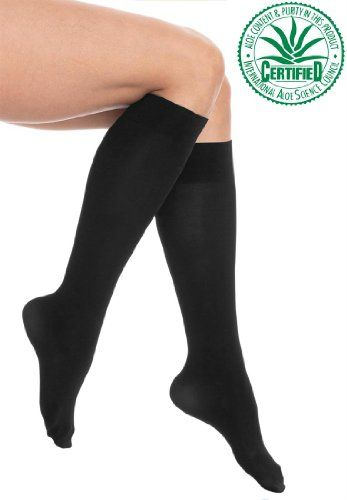 8149ab859 Woman Within Women s Microfiber Knee-Hi Aloe Vera Infused Socks (2-Pack) -  Listing price   16.58 Now   13.58