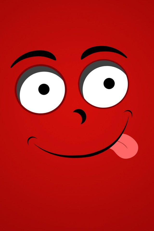Red smiley face   Funny iphone wallpaper, Funny wallpaper ...