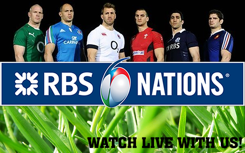 Watch RBS 6 Nations Rugby Live