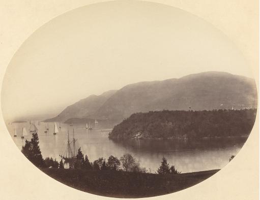 George K. Warren (1824-1868), From Trophy Point, West Point, Hudson River (photo), ca. 1867-1868 [WSJ 3/9/17]