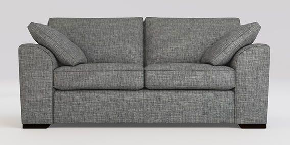 Buy Stamford Medium Sofa 3 Seats Boucle Weave Dark Grey Large Square Angle