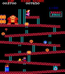 Donkey Kong Video Game Wikipedia The Free Encyclopedia Classic Video Games Retro Video Games Donkey Kong