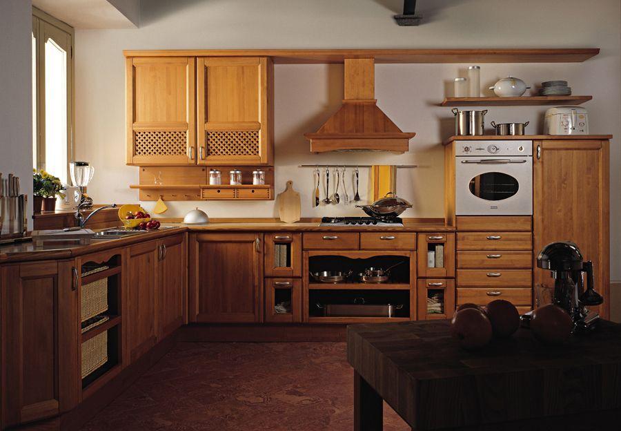 Foto modelo muebles cocina madera rustico 04 | Decoración de ...