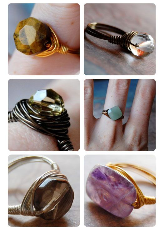 loving the wire-wrapped rings! | jewelry | Pinterest | Schmuck ...