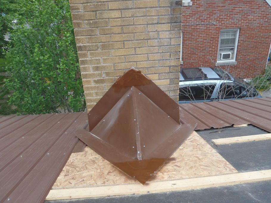 How To Build A Cricket Behind Chimney (metal Roof) Http://www