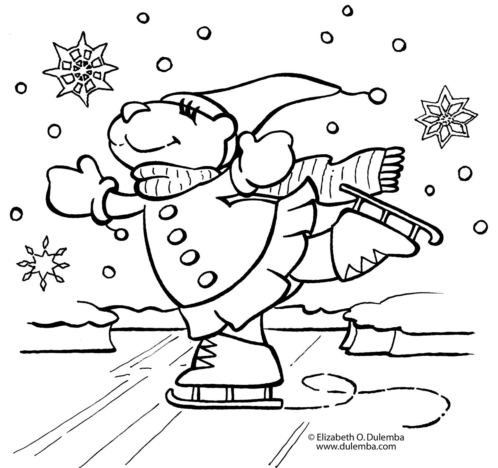 adult Coloring Pages For Kindergarten Kids Preschool Winterjanuary