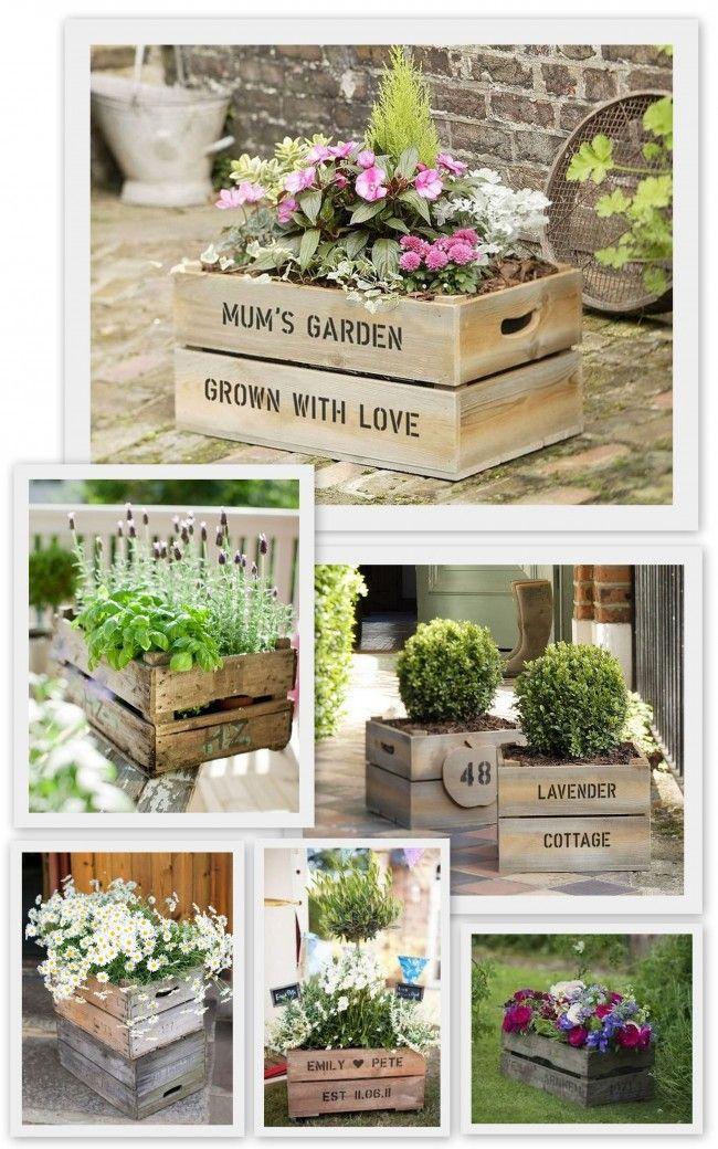 Doniczki Na Tarasie I Balkonie 32 Pomysly Diy Palette Garden Front Yard Landscaping Front Yard